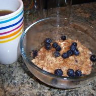 Another delicious bowl of oats and berries