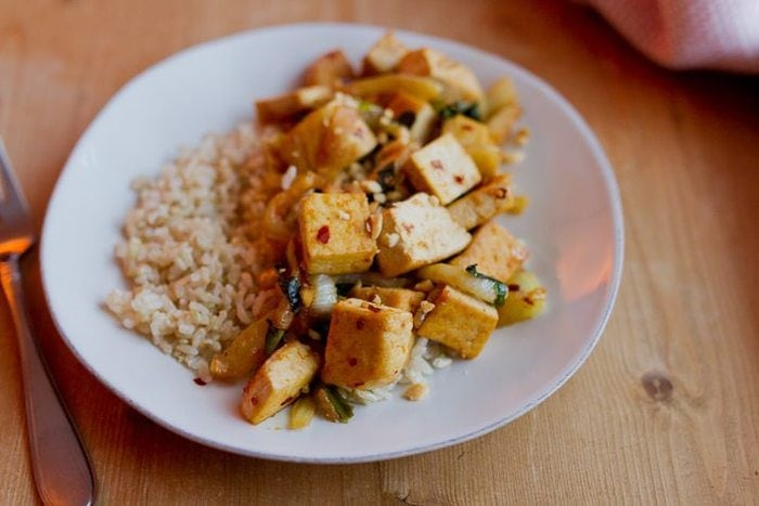 Orange Tofu with Fennel