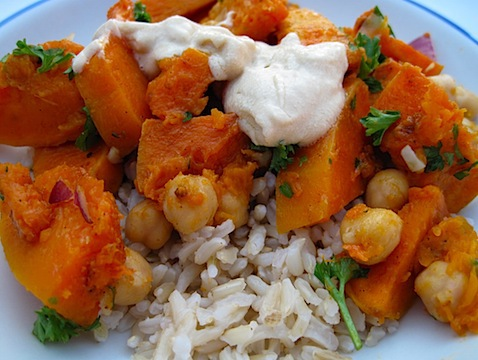 Warm Butternut Squash, Chickpea And Tahini Salad Recipe ...