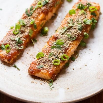 Miso Broiled Salmon