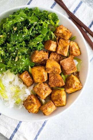 Baked Peanut Tofu