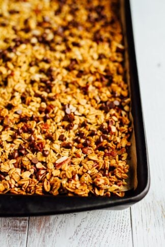Pumpkin Granola with Pecans and Chocolate Chips