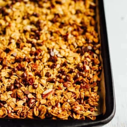 Chocolate Pecan Pumpkin Granola (VIDEO)