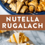 Nutella and apricot rugalach for Hannukkah.