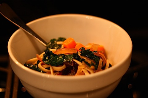 Udon with Shiitake Mushrooms, sweet potato and Kale in Miso Broth.JPG