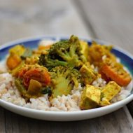 The Second Debut: Curried Vegetables and Tofu