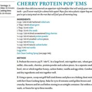 Cherry Protein Pop'ems and an Eat Clean Giveaway