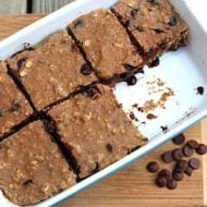 Homemade Banana Carob Protein Bars