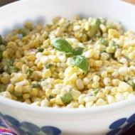 Raw Corn and Avocado Salad