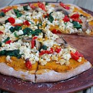 Vegan Pumpkin Ricotta Pizza