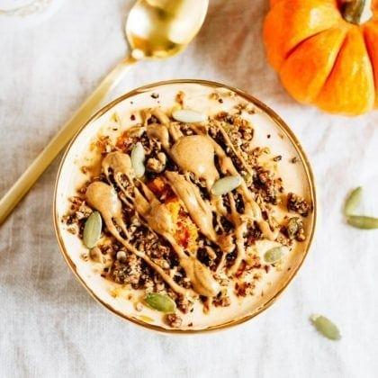 Protein Packed Pumpkin Pie Yogurt Bowl