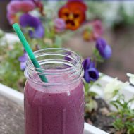 Simple Berry Smoothie and Halloween Fun