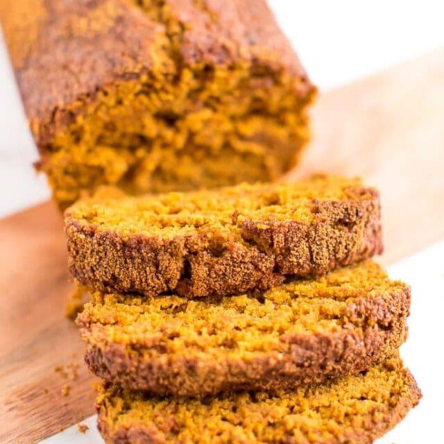 Healthy Low Sugar Pumpkin Bread