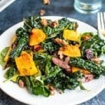 holiday kale salad with roasted butternut squash