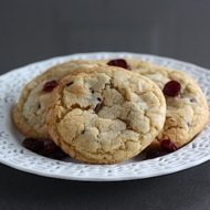 12 Days of Cookies, Day 8, Almond Cookies with Cranberries & White Chocolate