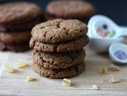 Vegan Gluten Free Gingersnap Cookies
