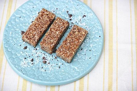 Homemade Chocolate Dipped Coconut Luna Bars Eating Bird Food