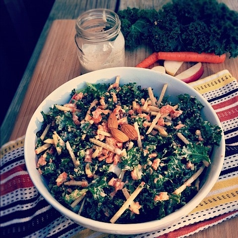 Kale-slaw with Curried Almond Dressing.JPG