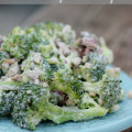 The Best Vegan Broccoli Raisin Salad with a creamy cashew dressing