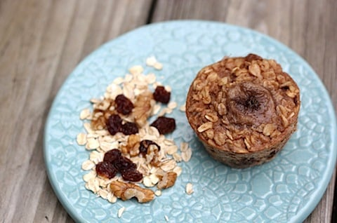 Baked Banana Oatmeal Cup // Eating Bird Food
