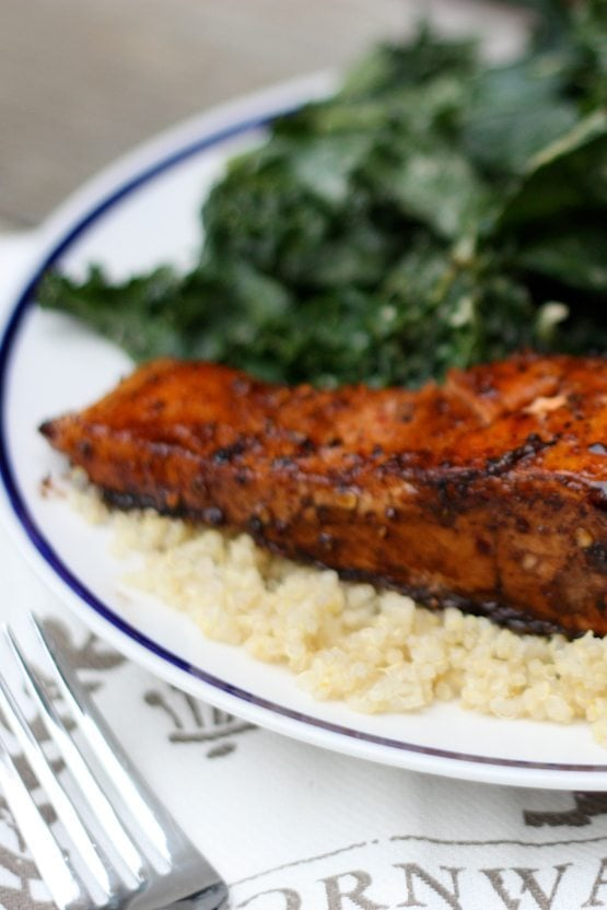 Quick and Easy Clean Eating Balsamic Salmon