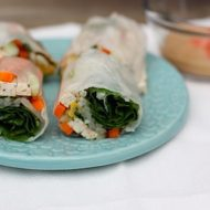 Fresh Spring Rolls with a Light Peanut Sauce