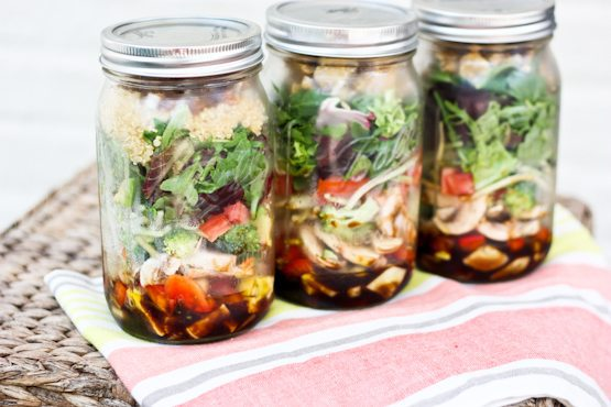 Quick and Easy Lunch Idea - Salad in a Jar