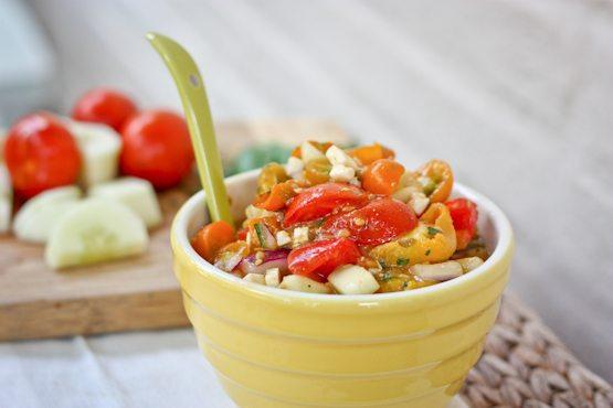Farmers Market Roasted Tomato Salad
