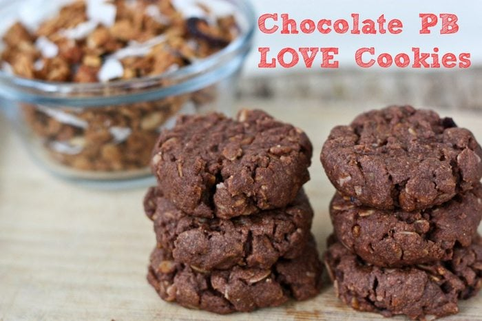 Chocolate Peanut Butter Granola Cookies