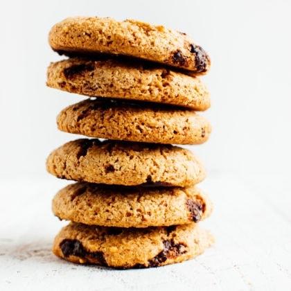 Vegan + Paleo Almond Flour Chocolate Chip Cookies