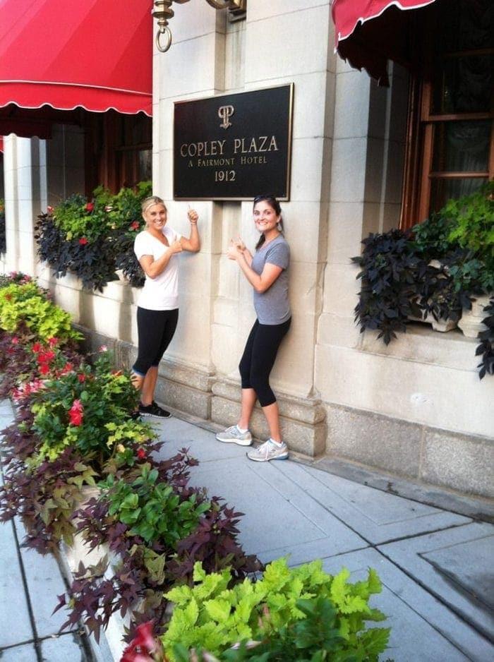 Sarah and I Copley Plaza