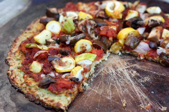 Healthy Pizza with a Cauliflower Crust