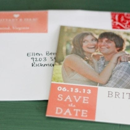 Wedding Update – Our Save The Dates