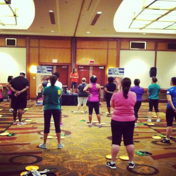 workout at fitbloggin