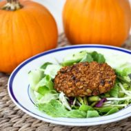Curried Pumpkin Black Bean Burgers