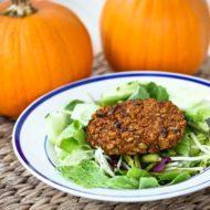 Curried Pumpkin Black Bean Burgers