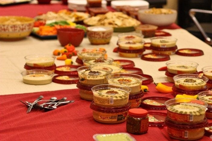 Sabra Hummus Table