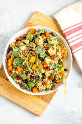 Fall Quinoa Spinach Salad