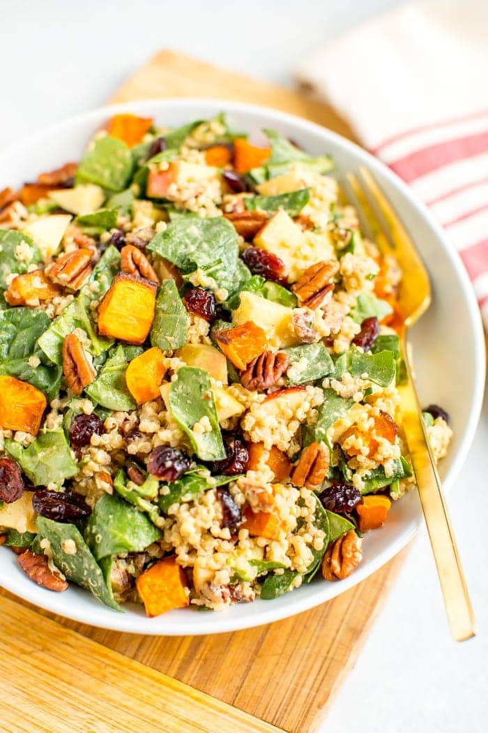Fall Harvest Spinach Salad
