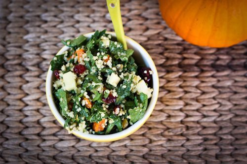 Fall harvest spinach salad 1