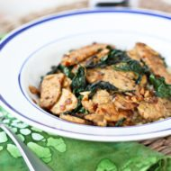 One Skillet Meal: Tempeh with Kale + Coconut Aminos