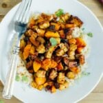 One Pan Tempeh Butternut Squash Bake