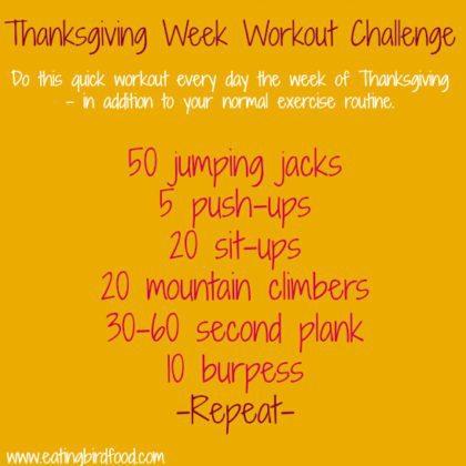 Thanksgiving Week Workout