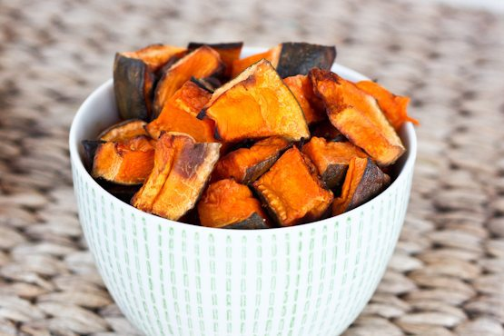 This roasted kabocha squash recipe uses just coconut oil and sea salt and makes for a delicious side. It's awesome dipped in ketchup just like tater tots.