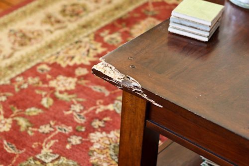 Cracked coffee table