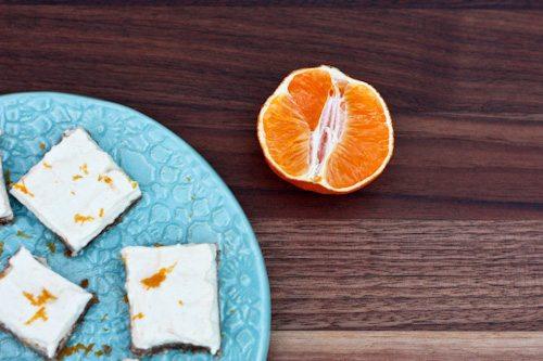Skinny clementine cheesecake bites
