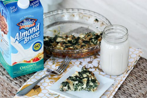 Kale and Feta Quiche With Almond Milk