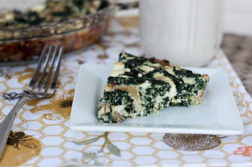 kale and feta quiche