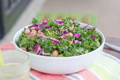 Kale broccoli cabbage salad