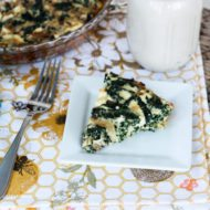 Kale and Feta Crustless Quiche